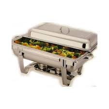 stainless steel two burners chafing dish with single pan