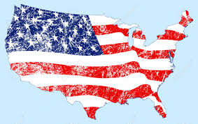 United States Map Clip Art by United States Map With Flag And Grunge Royalty Free Cliparts