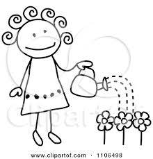 flower garden drawing for kids decorating clear