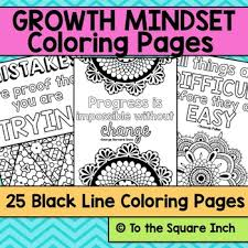 growth mindset coloring pages square kate bing coners