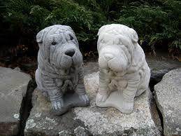 shar pei statue concrete statues pet memorial