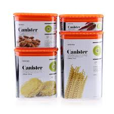 aliexpress com buy 4pcs canister set sealed plastic kitchen