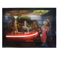 neonetics 3javax java dreams neon led picture game room decor
