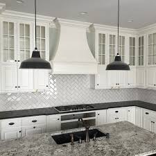 subway tile backsplash kitchen classic subway tile laid with a herringbone pattern in one of our
