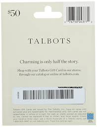 half gift cards talbots gift card 25 gift cards