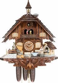 cuckoo clock 8 day movement chalet style 60cm by anton schneider