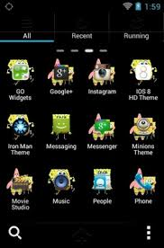 go launcher themes spongebob spongebob squarepants android theme for go launcher androidlooks com