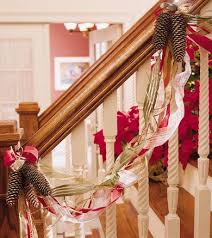 Banister Decorations Pretty Christmas Garland Time For The Holidays