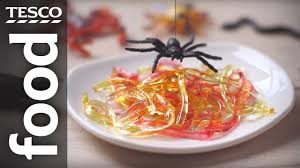 how to make jelly worms for halloween tesco food youtube