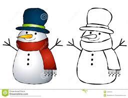 snowman clip art stock photo image 7266700