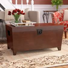 storage trunk coffee table decorative trunks you ll love wayfair