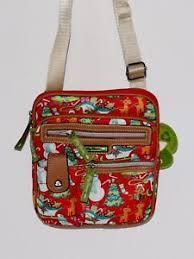 Lilly Bloom Lily Bloom Red Snowman Gigi Cross Body Handbag Free Shipping Ebay