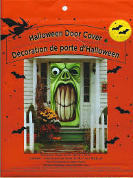 Halloween Porch Light Cover by Amazon Com Halloween Haunted House Green Goblin Door Cover By