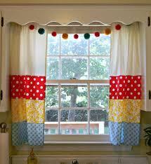 Pattern Window Curtains Kitchen Cheerful Kitchen Window Curtain Ideas With Mixed Pattern