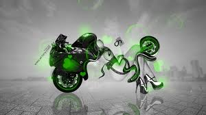 suzuki motorcycle green moto suzuki hayabusa fantasy city 2014 green neon design