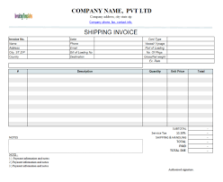 shipping invoice example invoice template ideas