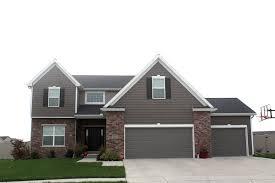 Gray Siding White Trim Black by Black Roof White Trim Mastic Pebblestone Clay Siding Certainteed