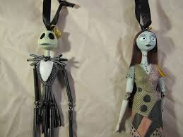 skellington and sally ornaments the pumpkin king