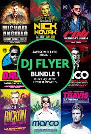 dj flyer template bundle 1 for photoshop awesomeflyer com