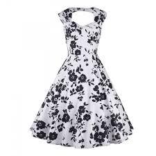 wholesale rockabilly swing 1950s floral print sleeveless vintage