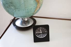 contemporary clock analog desk aluminum ac 01 alarm clock
