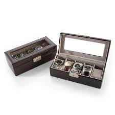 personalized boxes personalized leather 5 slot boxes at brookstone buy now