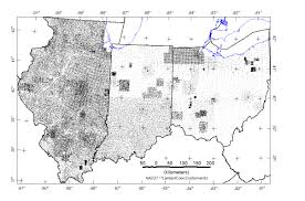 Map Of Ohio And Indiana by Usgs Data Series 321 Illinois Indiana And Ohio Magnetic And