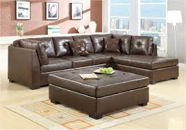 living room lovely small leather sectional sofa brown with