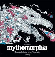 Cahier de coloriage black mythomorphia  la Ruche des Passions