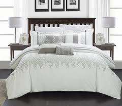 Black And White Comforter Set King Amazon Com Chic Home 8 Piece Lauren Contemporary Comforter Set