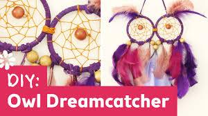 diy owl dreamcatcher youtube