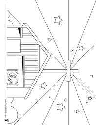 bethlehem christmas star coloring page church stage design