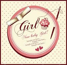 baby shower cards vector baby shower card girl royalty free cliparts vectors and