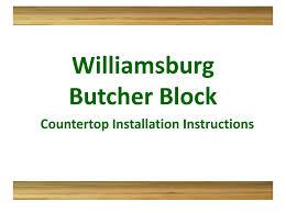 flooring101 williamsburg butcher block countertop instructions