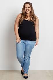 Light Colored Jeans Light Wash Basic Plus Size Maternity Skinny Jeans