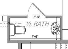 bathroom floor plans half bath design drawing powder room measurments besides pocket