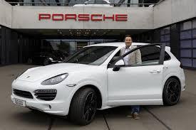 porsche white car 500 000th porsche cayenne built in leipzig