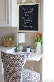 small kitchen desk ideas the most of your space our new kitchen built in desk