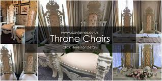 Throne Chairs For Hire Wedding Throne Chair Hire Ozzy James Parties U0026 Events