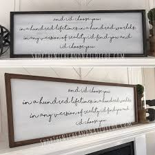 family wood sign home decor and i u0027d choose you wood sign chaos of stars quote wedding gift