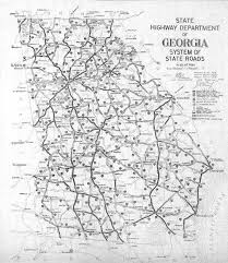 Georgia State Map by Detailed Old Road System Map Of Georgia State U2013 1929 Vidiani Com