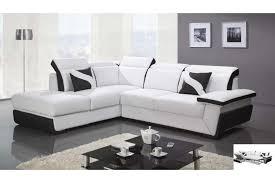 canapé d angle convertible cuir blanc canapé d angle convertible noir et blanc intérieur déco