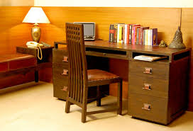 Office Desk Drawers Leather Top Multifunctional Office Desk With Multi Drawers