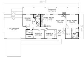 ranch style house plan 4 beds 2 00 baths 1720 sq ft plan 1 350