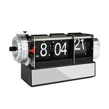 mechanical desk clock leaningtech dynamic metal flip down desk clock creative small