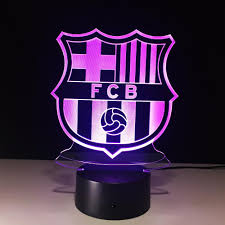 3d led lamp touch sensor football fcb night light soccer sport