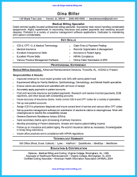 Medical Billing And Coding Job Description For Resume by Medical Biller Resume Sample Resume For Your Job Application
