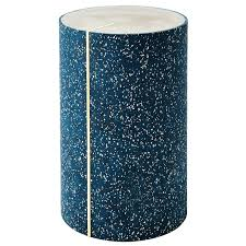 Aqua Side Table Rubber Cyl Side Table For Sale At 1stdibs