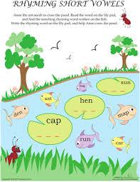 short vowel sounds rhyming worksheet education com