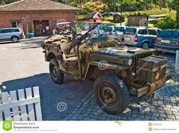 wwii jeep willys willys jeep 1945 with machine guns editorial stock photo image